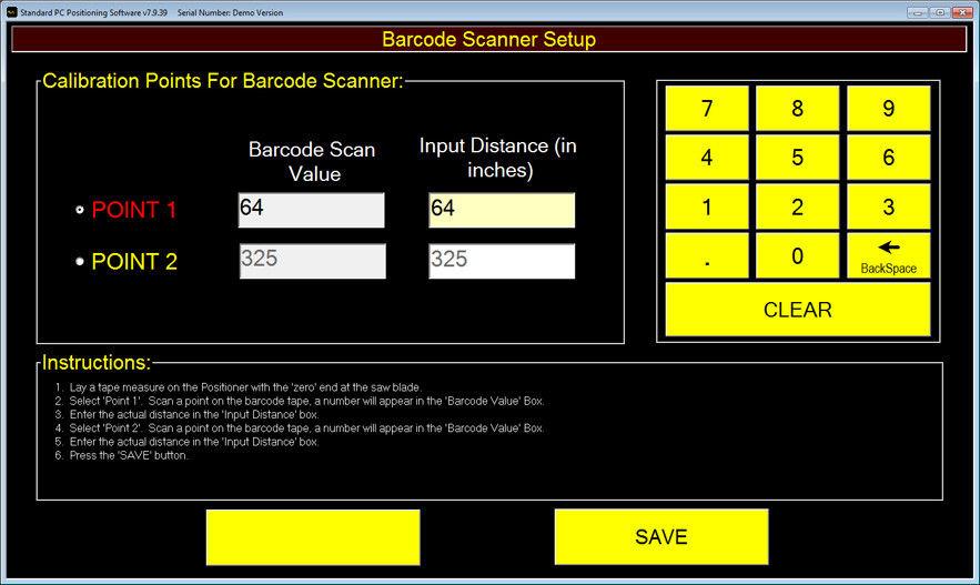 Barcode Setup