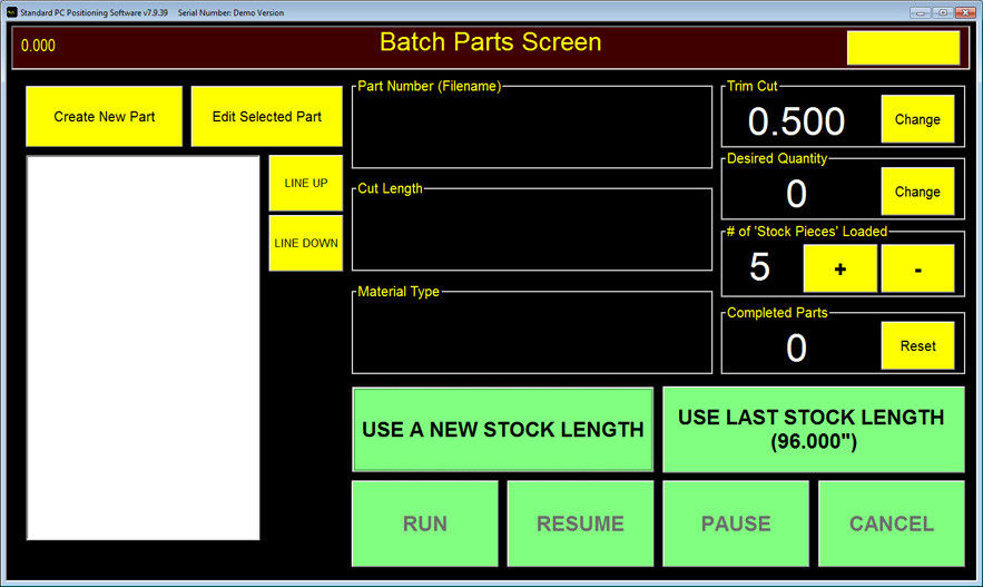 Batch Screen