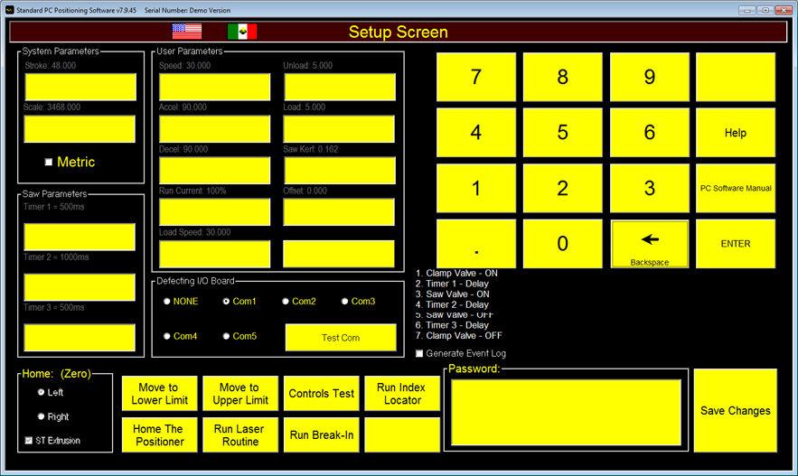 SetUp Screen