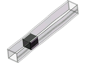 Internal image of a cometitors' linear bearing