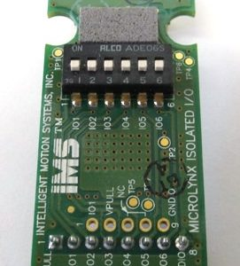 Your older programmable positioner from RazorGage may use this MicroLynx I/O Card, and you can find a replacement from RazorGage online.