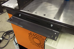 Connect and support the RazorGage ST Table directly to your existing saw.