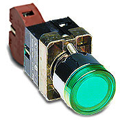 RazorGage replacement parts such as the illuminated green power button for a 22mm hole size and other parts are available online.