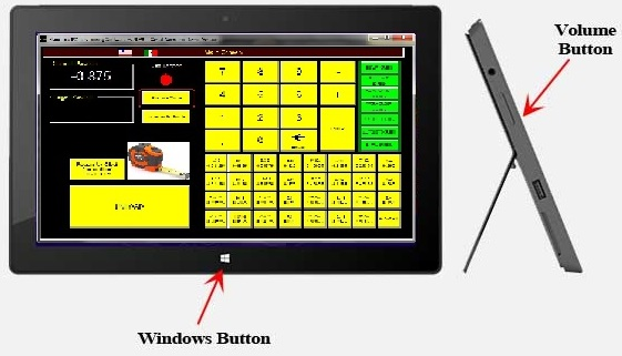 Touch screen tablets with Windows software make it easy to program and control your RazorGage programmable saw stop system.