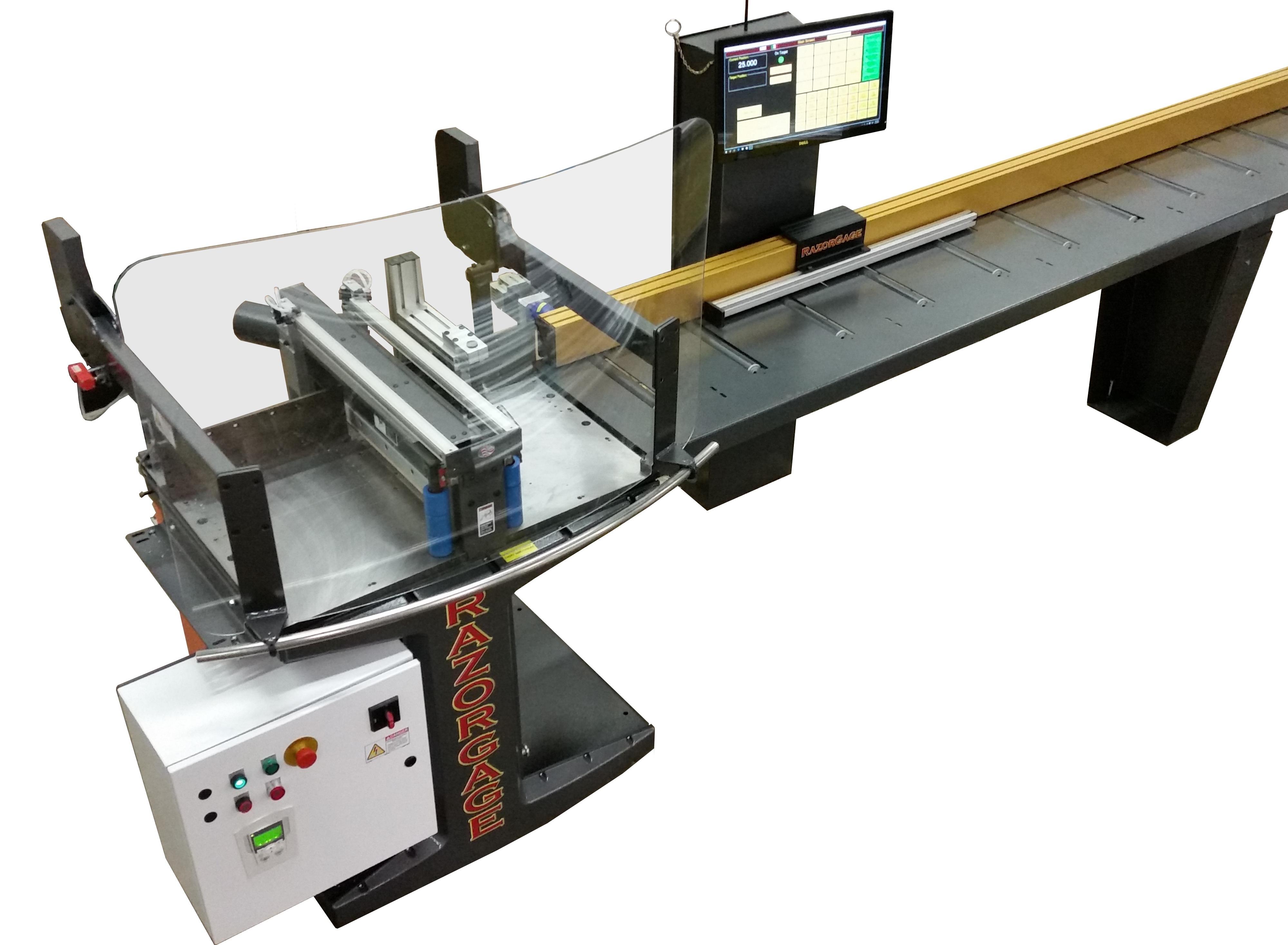 RazorGage Auto Pusher System Upcut Saw System