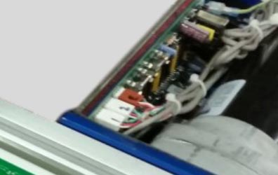 Exposed electronics on competitor positioner.