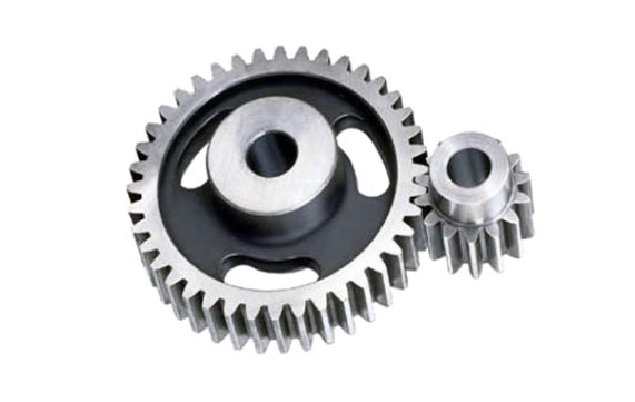 Competitor positioner spur gear style reducer with 1.2 gear teeth transmitting load.