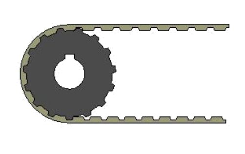 Competitor positioner 15 tooth pulley.