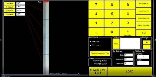 RazorGage auto pusher screen